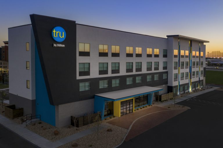 Exterior Drone photo of Tru by Hilton Lubbock TX