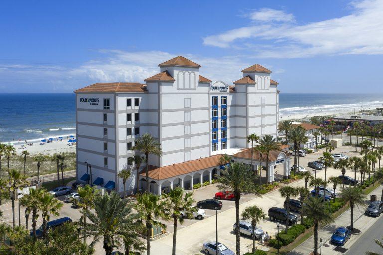 Exterior Drone photo of Four Points Jacksonville Beach
