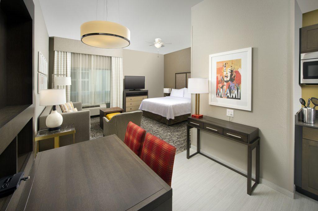Homewood Suites Miami FL King guest room