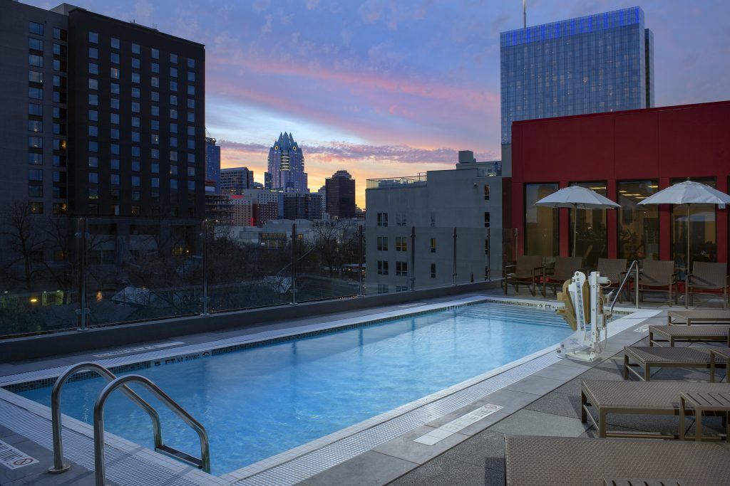 Homewood Suites Austin TX Dusk pool photo