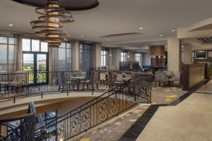Courtyard by Marriott Tacoma Washington lobby staircase