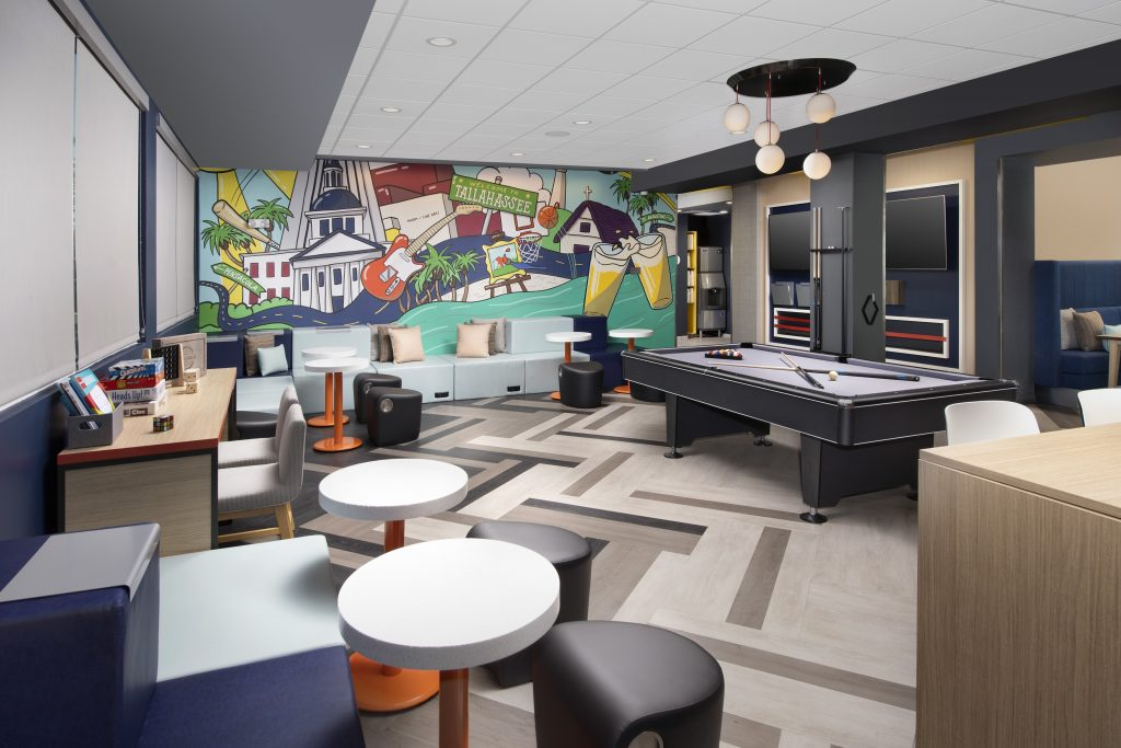 Tru by Hilton Tallahassee FL lobby seating