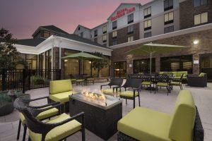 Hilton Garden Inn Lithia Springs GA Patio at dusk