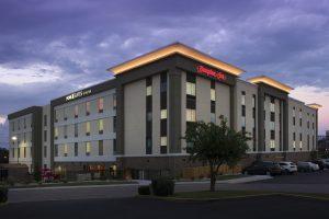 Home2 Suites/Hampton Inn Hattiesburg MS Exterior at dusk