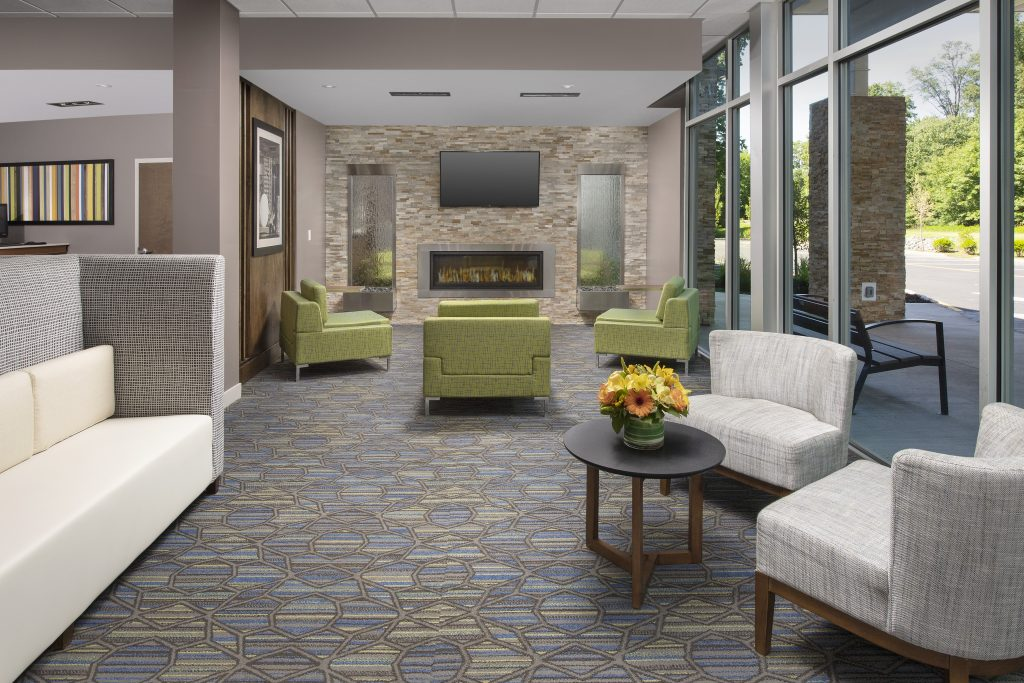 Holiday Inn Express New Brunswick NJ Lobby seating