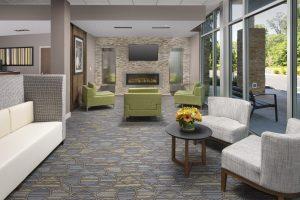 Holiday Inn Express New Brunswick NJ Lobby seating