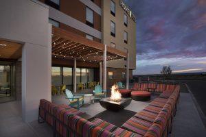 Home2 Suites by Hilton Las Cruces NM Dusk Patio