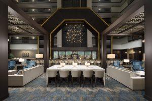 Embassy Suites Columbus Ohio Bar lobby seating