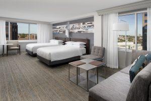 Kansas City Marriott Downtown Kansas City Missouri double queen guest room