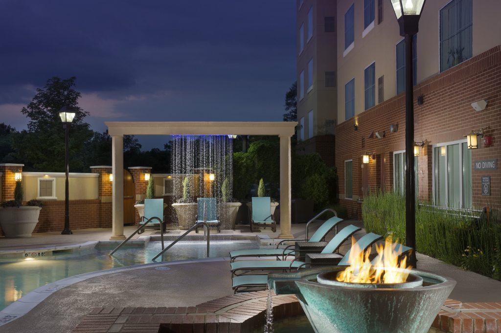 Residence Inn by Marriott Duluth GA Patio at dusk