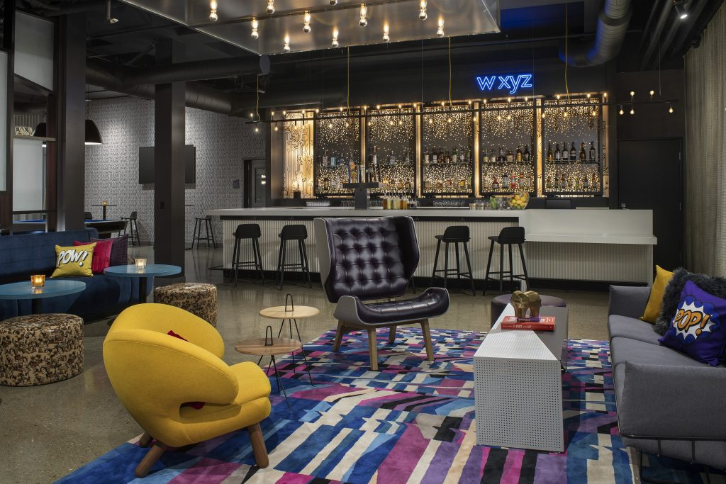 Aloft by marriott Dublin California bar and lobby seating