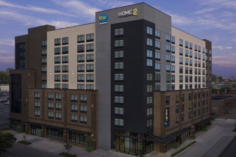 Exterior Drone photo of Home2/Tru by Hilton Nashville TN
