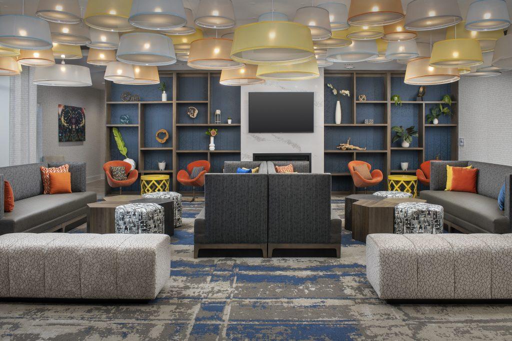 Homewood Suites Denver Colorado lobby seating