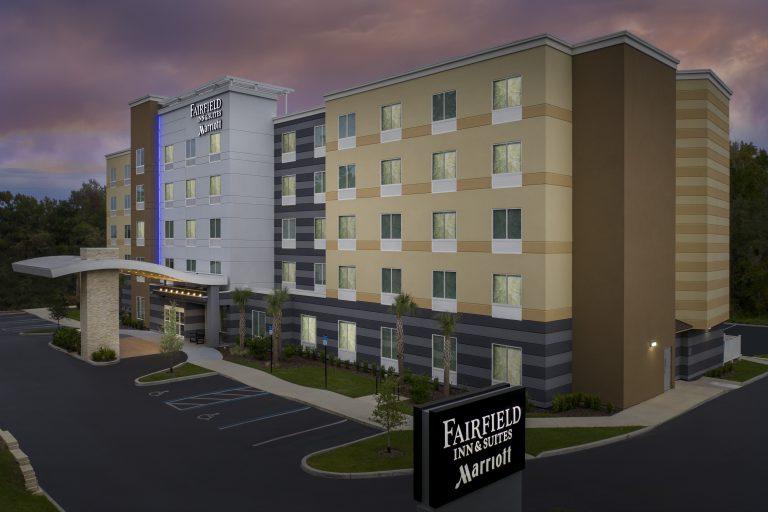 Exterior drone photo Fairfield Inn and Suites Gainesville, FL