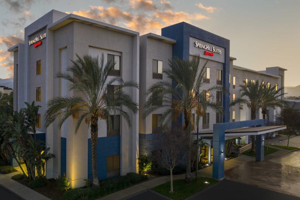 SpringHill Suites Corona CA Dusk exterior