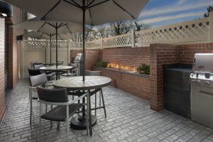 TownePlace Suites by MarriottCollege Park MD Dusk Patio