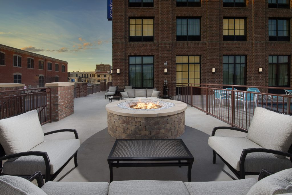 Holiday Inn Express Pensacola FL Dusk Fire Pit